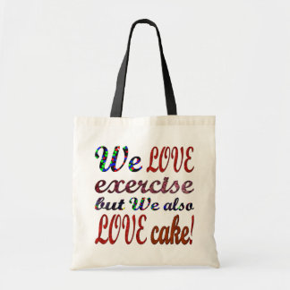 Exercise, Love Hearts Cake Tote Bag