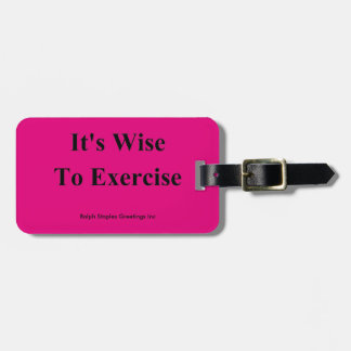Exercise Luggage Tags