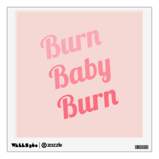 Exercise Motivation Burn Baby Pink Wall Decals