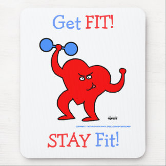 Exercise Motivation Cardio Heart Fitness Motto Mouse Pad
