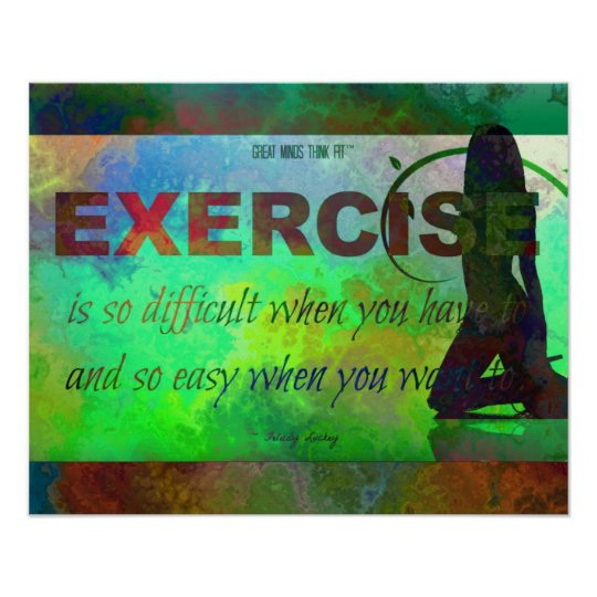 Exercise Motivation in Silhouette Poster