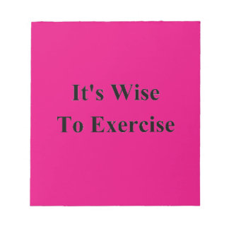 Exercise Note Pad