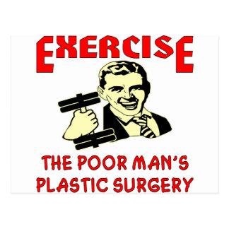 Exercise Poor Man's Plastic Surgery Postcard