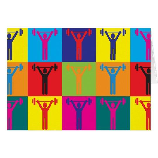 Exercise Pop Art Card