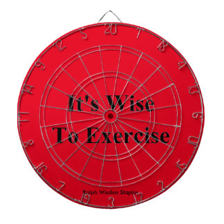 Exercise quote dartboards
