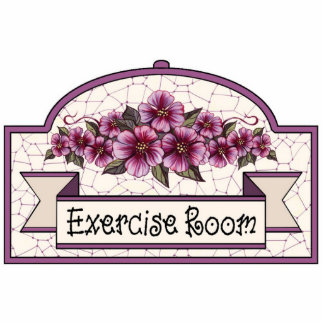 """""""Exercise Room"""" - Decorative Sign 01 Statuette"""
