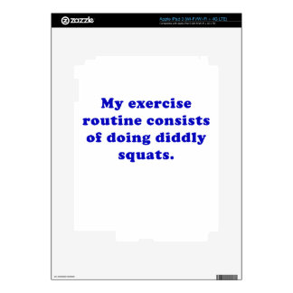 Exercise Routine Consists of doing Diddly Squats iPad 3 Skins