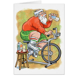 Exercise Santa Greeting Cards