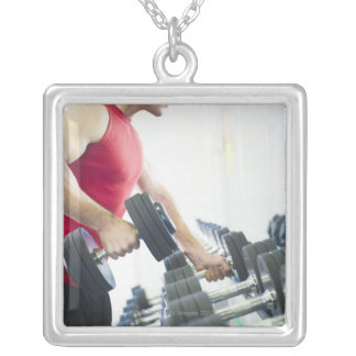 Exercise Silver Plated Necklace