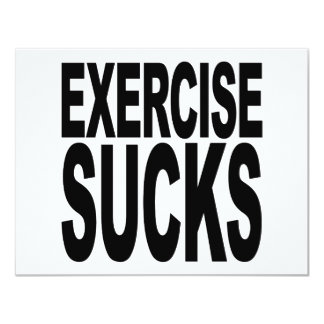 Exercise Sucks Card