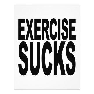 Exercise Sucks Custom Flyer