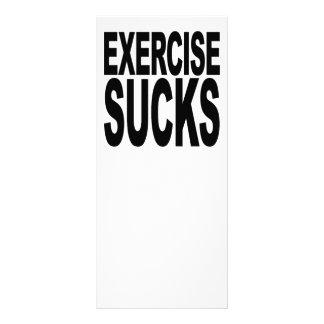 Exercise Sucks Rack Card Design