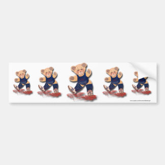 Exercise Teddy Bear Bumper Sticker Car Bumper Sticker