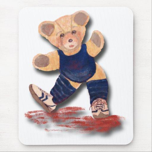 Exercise Teddy Bear Mousepad