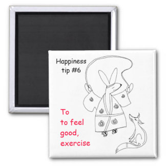 exercise to feel good 2 inch square magnet