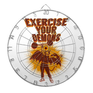 Exercise Your Demons Dart Board