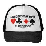 Exercise Your Mind Play Bridge (Four Card Suits) Hat