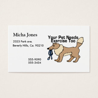 Exercise Your Pet Business Card