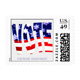 Exercise Your Right to Vote Postage Stamp
