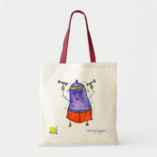 exercising eggplant eco bag