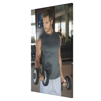 Exercising, Gym, Sport, Man, Body care, Day, Gallery Wrapped Canvas