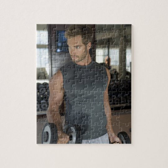 Exercising, Gym, Sport, Man, Body care, Day, Jigsaw Puzzle