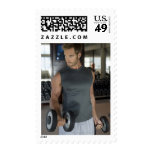 Exercising, Gym, Sport, Man, Body care, Day, Stamp