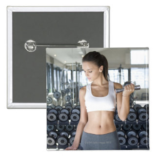 Exercising, Gym, Sport, Woman, Body care, Day, 2 Inch Square Button