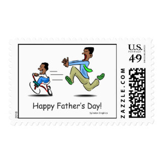 Exerise Dad Father's Day Stamp