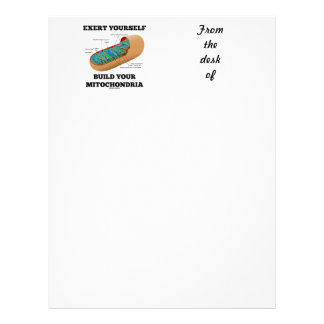 Exert Yourself Build Your Mitochondria Letterhead