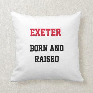 Exeter Born and Raised Throw Pillow