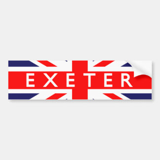 Exeter : British Flag Bumper Sticker