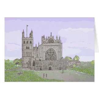 Exeter Cathedral drawing customize card