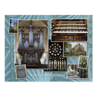 Exeter Cathedral montage England, postcard