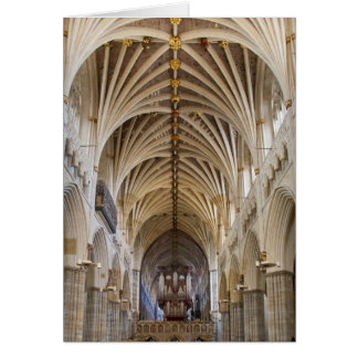 Exeter Cathedral organ and ceiling Card