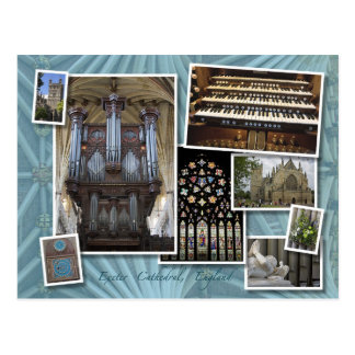 Exeter Cathedral, UK - montage  postcard