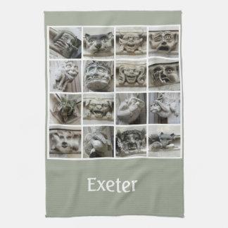 Exeter gargoyles teatowel towel