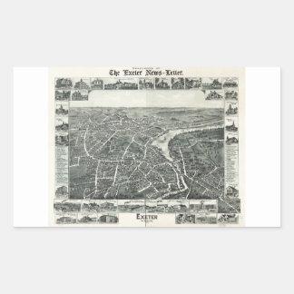 Exeter, New Hampshire (1896) Rectangular Sticker