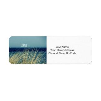 Exhale Calming Ocean Scene Return Address Label