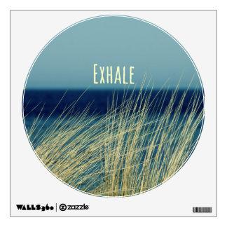 Exhale Calming Ocean Scene Wall Decal
