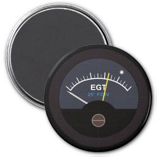 Exhauset Gas Temperature Gauge for Nerd Geeks 3 Inch Round Magnet