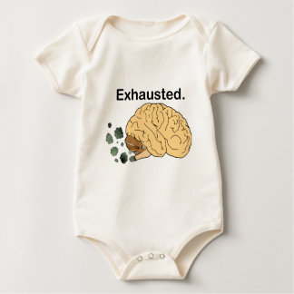 Exhausted Baby Bodysuit