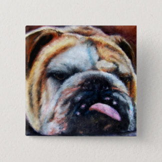 Exhausted (Bulldog) Button
