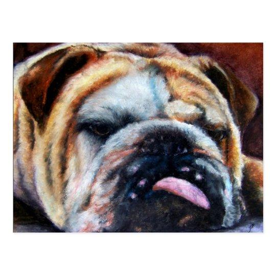 Exhausted (Bulldog) Postcards