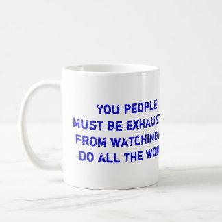 Exhausted Classic White Coffee Mug
