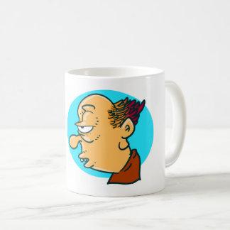 exhausted guy funny cartoon coffee mug