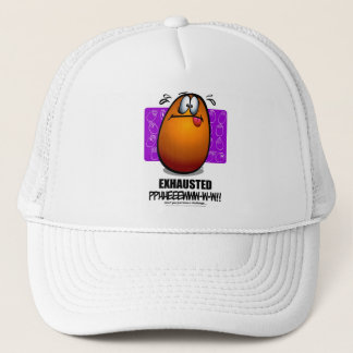 EXHAUSTED - Orange Trucker Hat