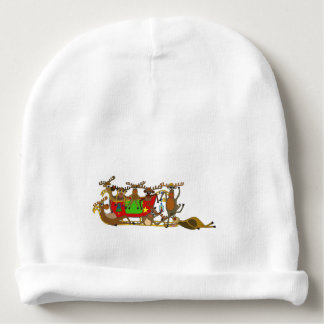 Exhausted Reindeers by Palm Tale Baby Beanie