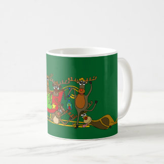 Exhausted Reindeers by Palm Tale Coffee Mug