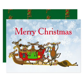 Exhausted Reindeers by Palm Taled Card
